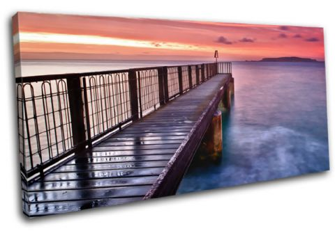 jetty Sunset Seascape - 13-0483(00B)-SG21-LO